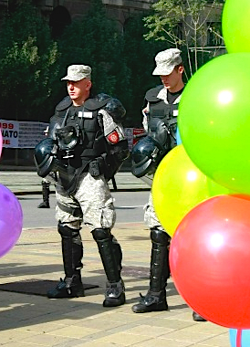 Belgrade Pride 2014 Police balloon