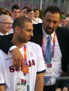 Milorad Cavic Vlade Divac London 2012 Olympics Team Serbia