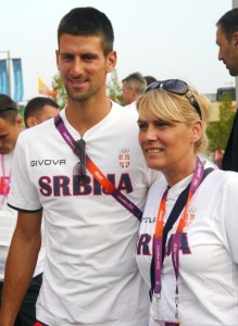 Novak Djokovic London 2012 Olympics Team Serbia