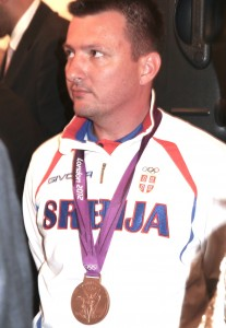 President Nikolić Andrija Zlatic London 2012 Team Serbia bronze