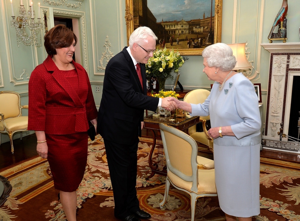 Croatian President Ivo Josipovic attends an audience with HM The Queen at Buckingham Palace
