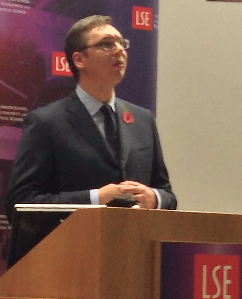 Aleksandar Vucic LSE London Press Freedom