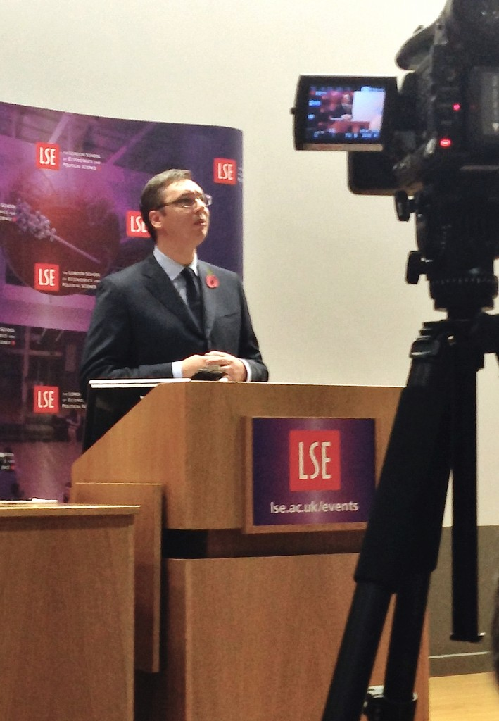 Aleksandar Vucic LSE London scandal